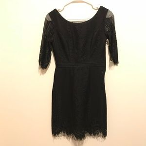 Tea & Cup Anthropologie Black Lace Dress 185